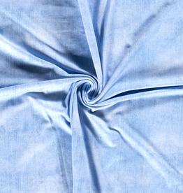 Tricot jeansprint lichtblauw denim
