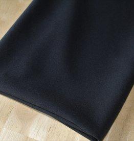 Nooteboom COUPON Crepe georgette zwart black 70x150cm
