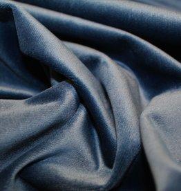 Hilco Uni Velours deco Intens Blauw