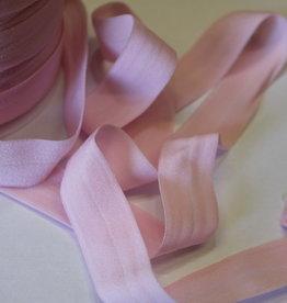 Lingerie elastiek  vouwtresse 20mm lichtrose