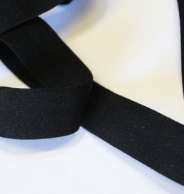 Lingerie elastiek  vouwtresse 20mm zwart