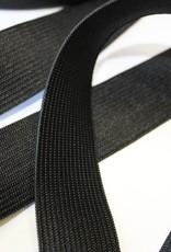 Soepele elastiek zwart 25mm
