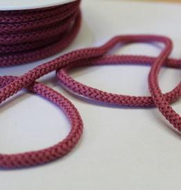 Gebreid touw 4.5mm oudrose