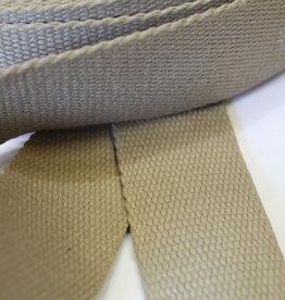 Tassenband katoen beige 40mm