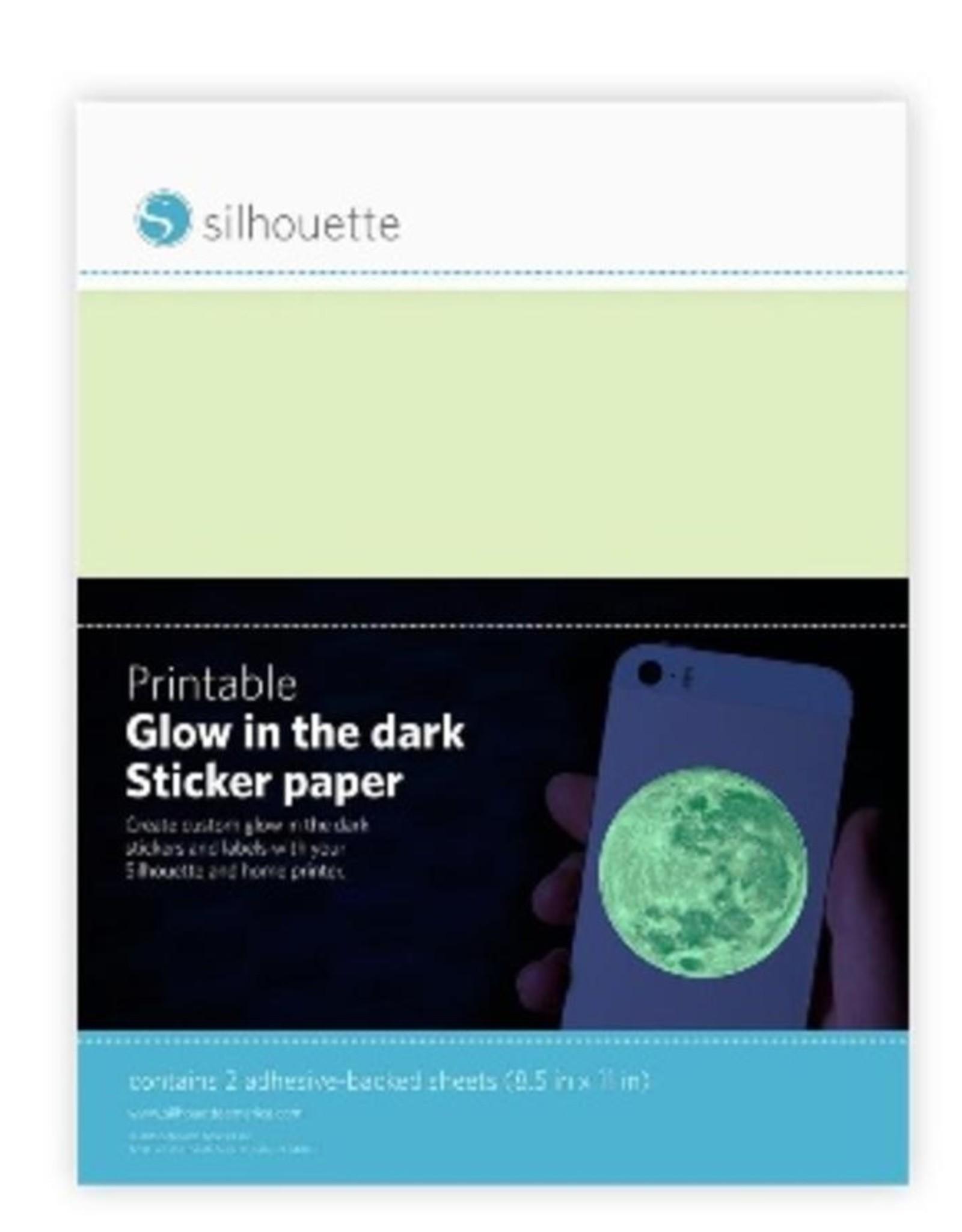 silhouette Silhouette printable Glow in te Dark sticker paper