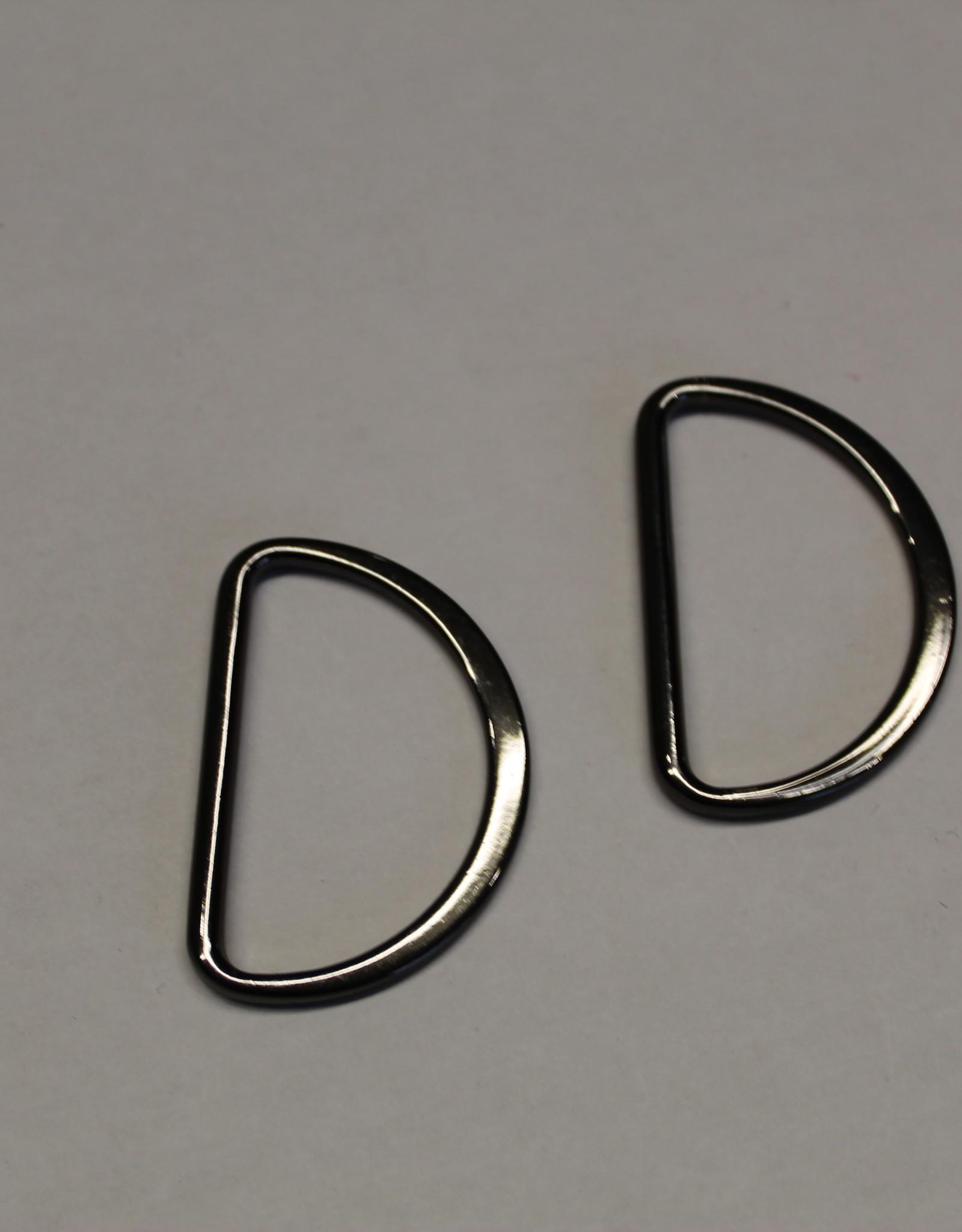 D-ring 40mm zwart nikkel