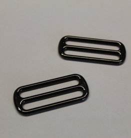 Schuifgesp 40mm zwart nikkel