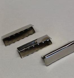 Riemklem 40mm zilver