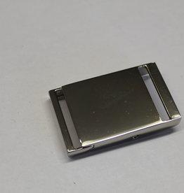 Klikgesp zilver 25mm