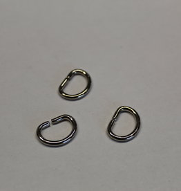 D-ring 12mm zilver
