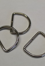 D-ring laag 30mm zilver