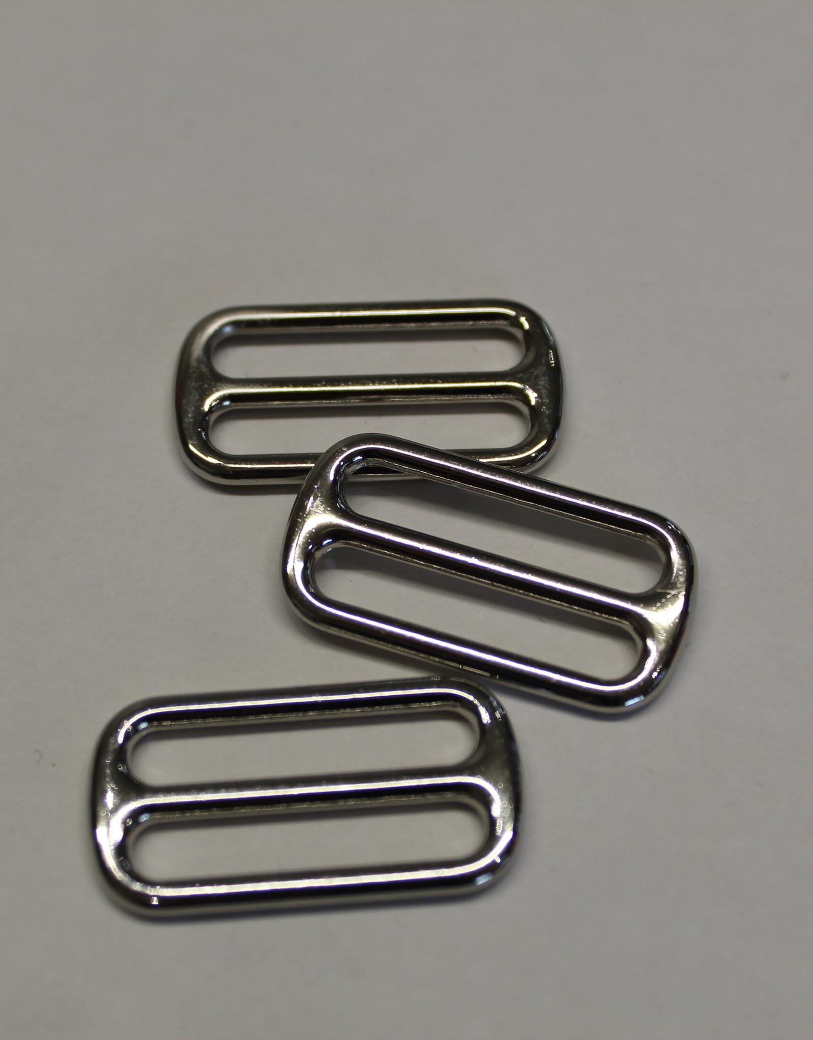 Schuifgesp 25mm zilver