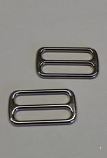 Schuifgesp 40mm extra hoogte zilver