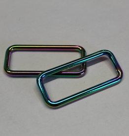 Passant 40mm regenboog metallic