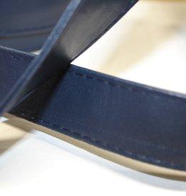 Tassenband in imitatieleder marine 25mm