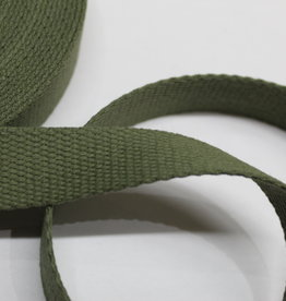 Tassenband katoen 25mm army green