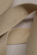 Tassenband katoen 25mm offwhite