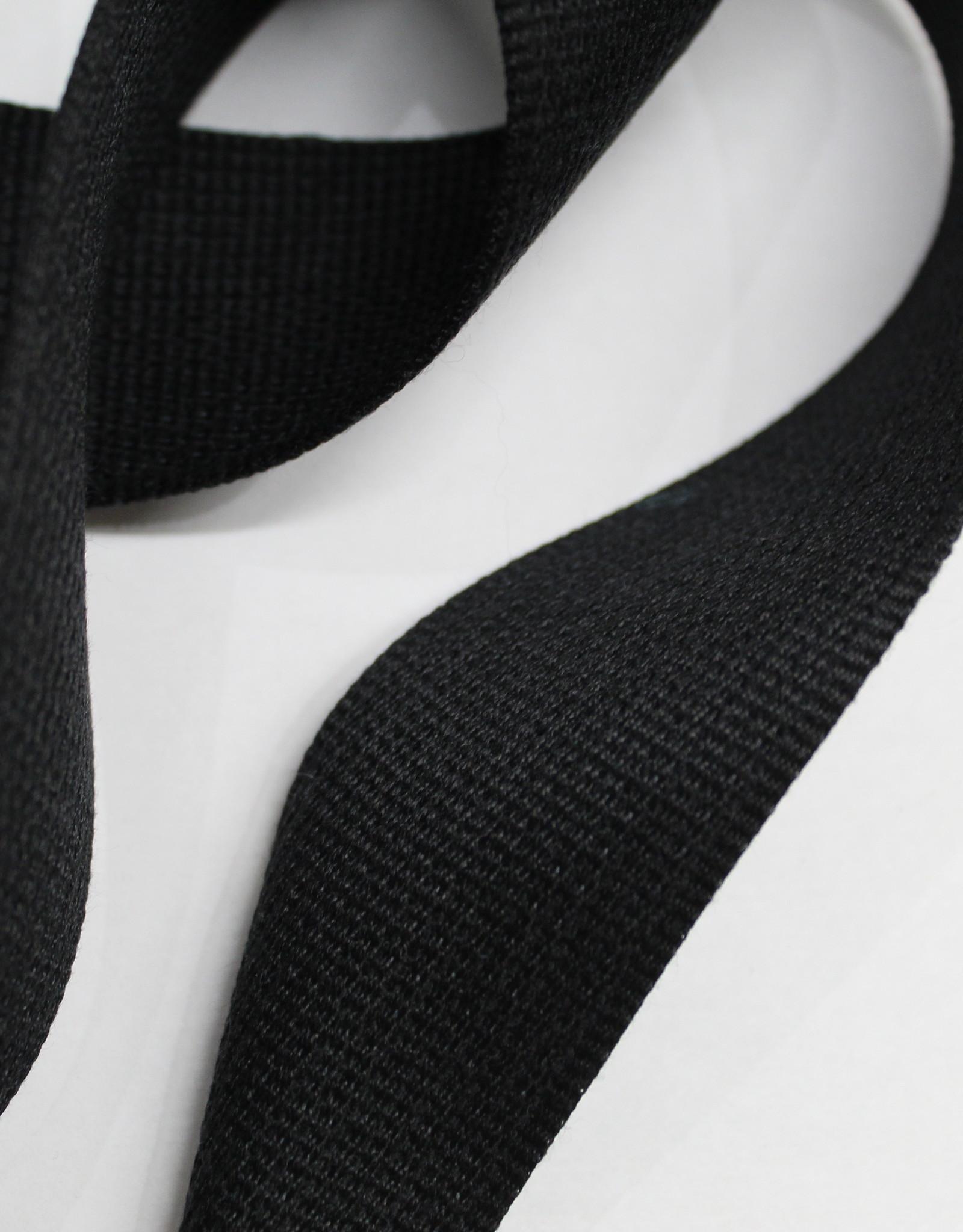Soepele tassenband 40mm zwart
