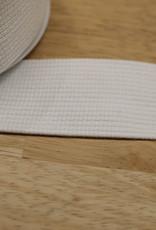Soepele tassenband 40mm wit