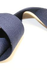Soepele tassenband 40mm navy blauw
