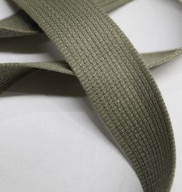 Soepele tassenband 30mm oudgroen