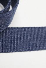 Tassenband katoen 30mm jeansblauw gemeleerd