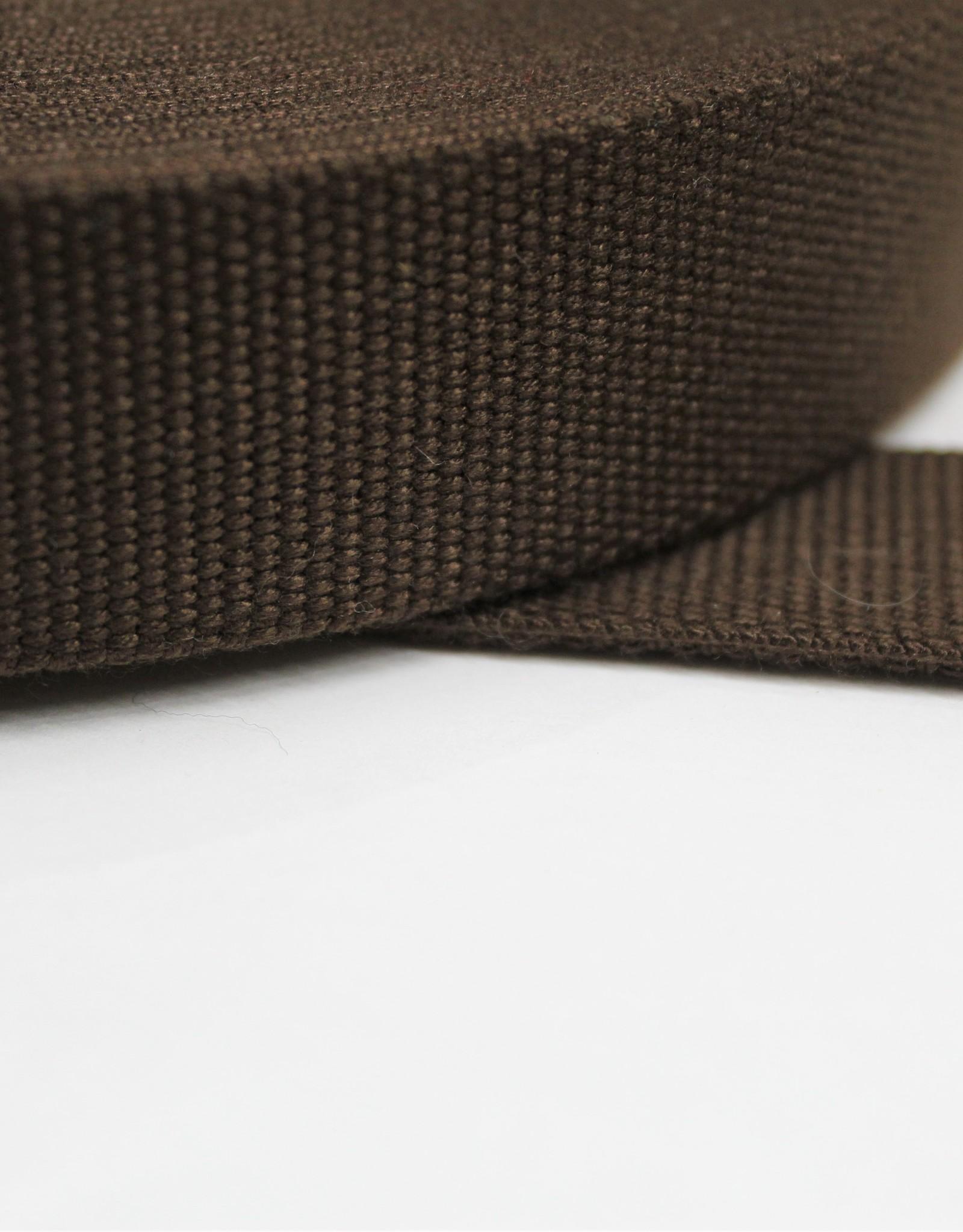 Tassenband katoen 30mm bruin