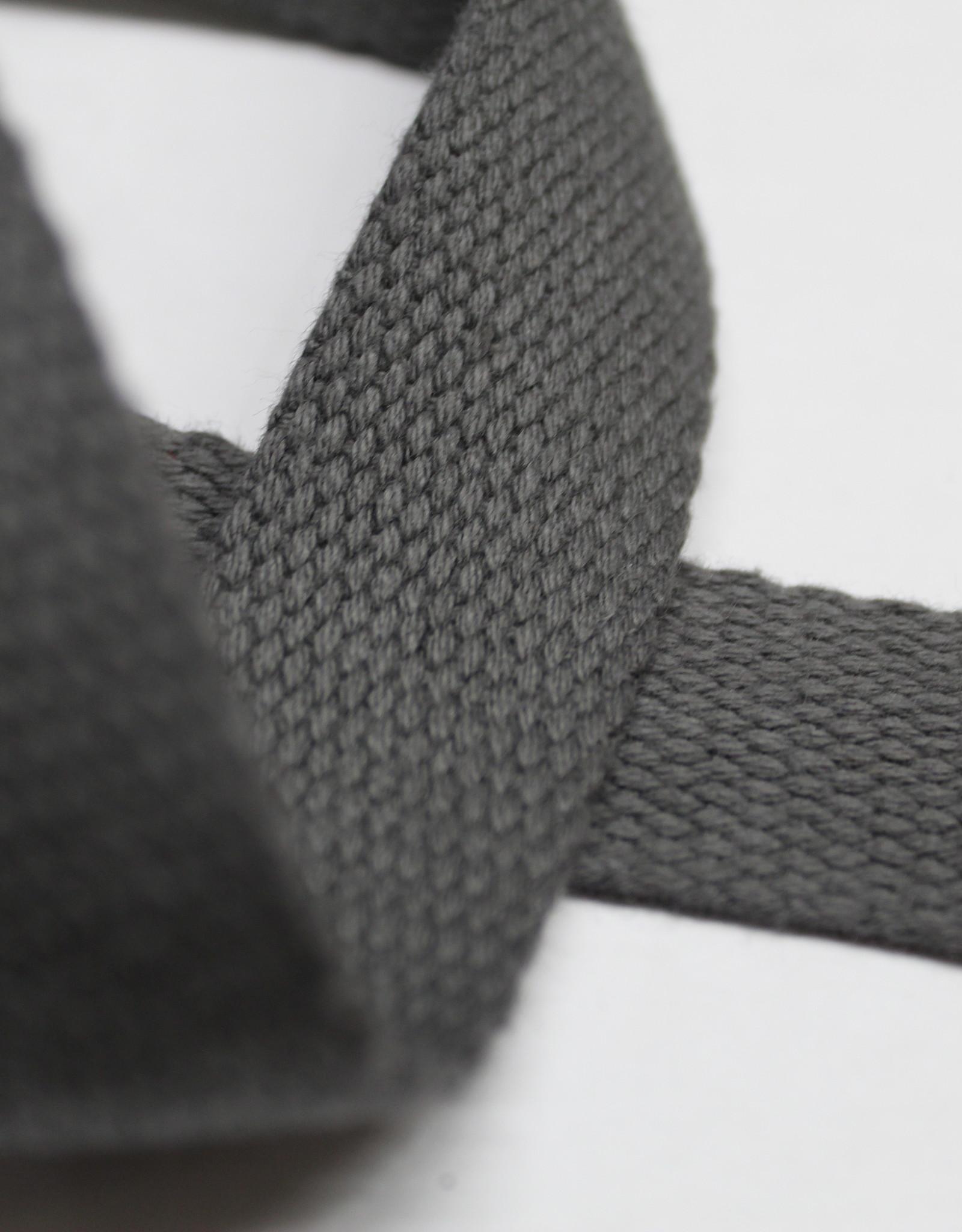 Tassenband katoen 25mm antraciet
