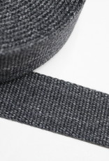 Tassenband katoen 30mm donkergrijs gemeleerd