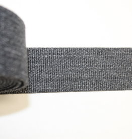 Tassenband katoen 40mm donkergrijs gemeleerd
