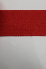 Tassenband katoen vlak 40mm rood