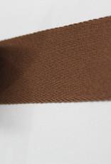 Tassenband katoen vlak 40mm bruin