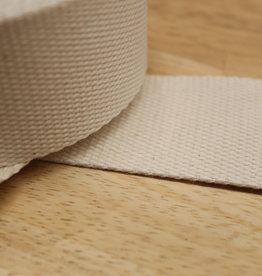 Tassenband katoen offwhite 40mm