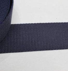 Tassenband katoen marine 40mm