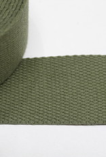 Tassenband katoen military green 40mm