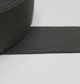 Tassenband katoen antraciet 40mm