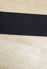 Tassenband katoen zwart 40mm