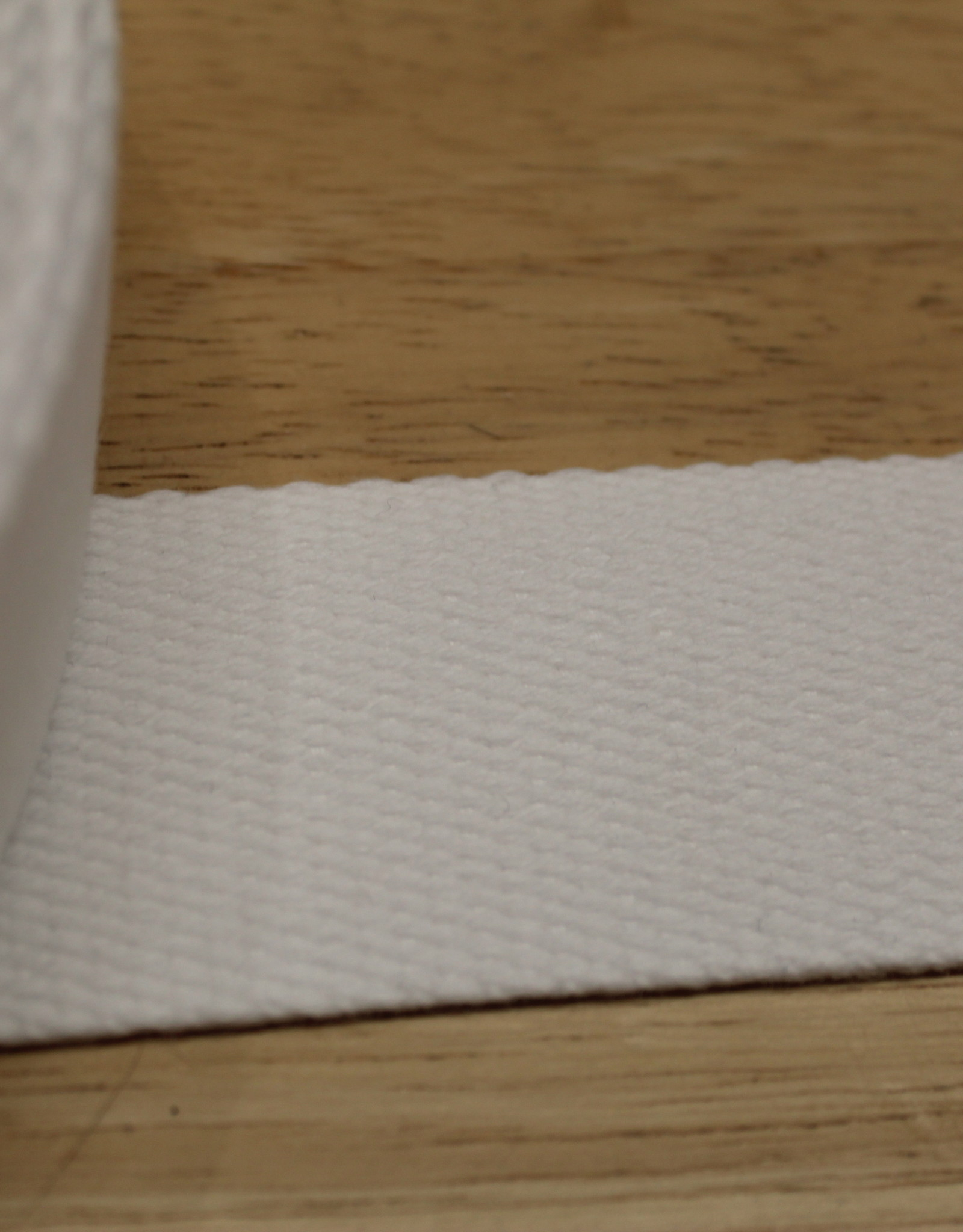 Tassenband katoen wit 40mm