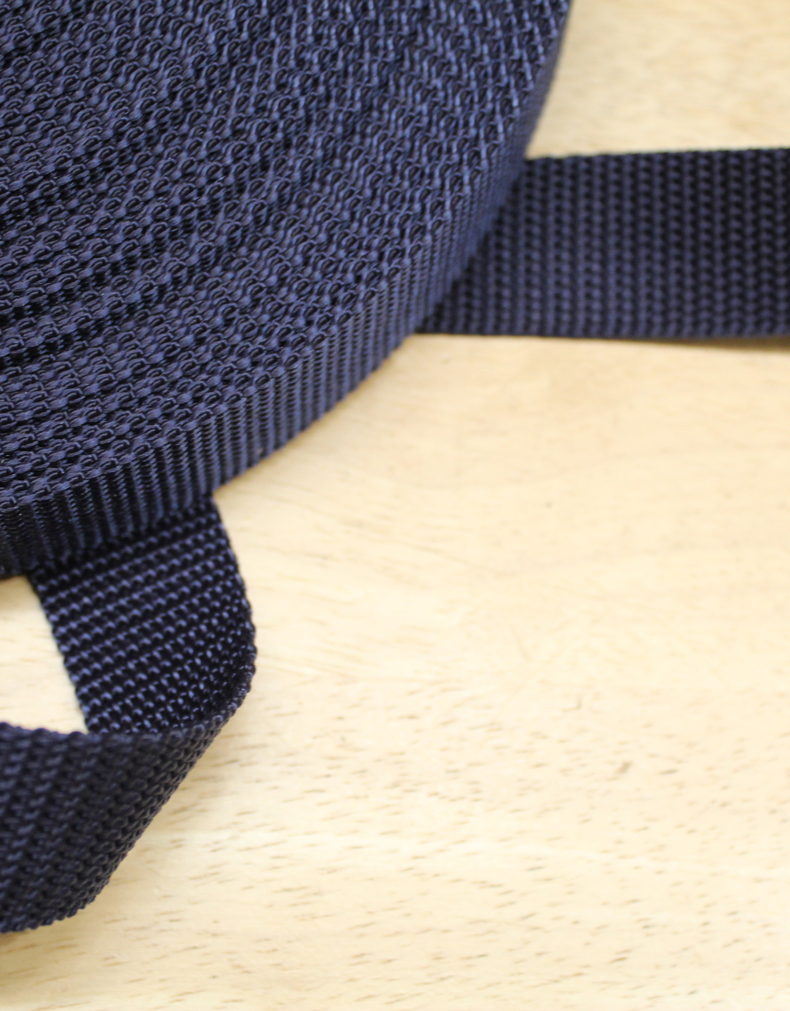Tassenband nylon navy blauw 30mm