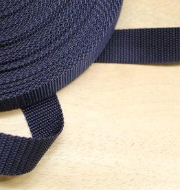 Tassenband nylon navy blauw 30mm