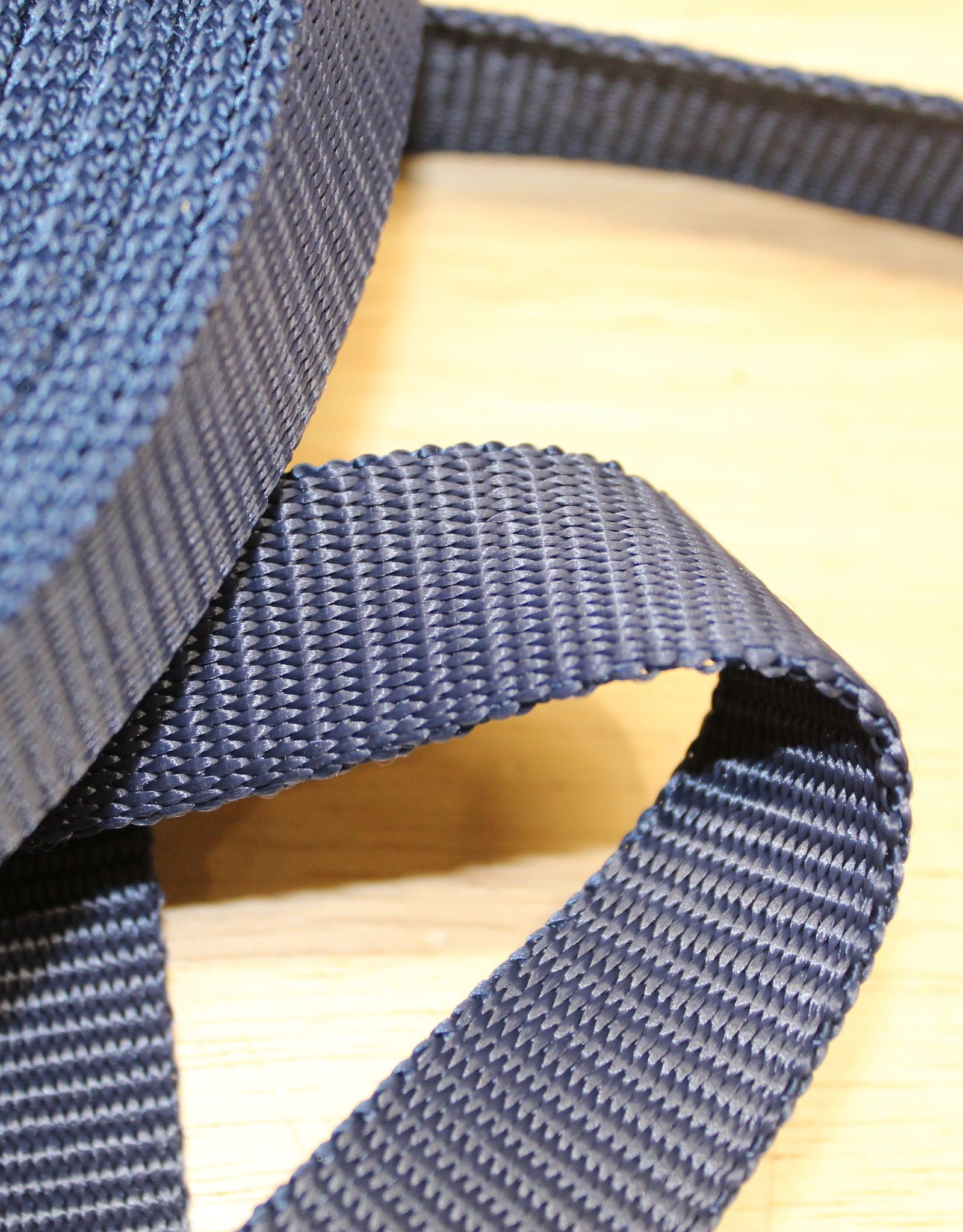 Tassenband nylon navy blauw 25mm