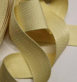 Tassenband lichtgeel 40mm