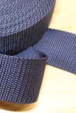 Tassenband nylon navy blauw 40mm