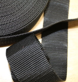 Tassenband nylon zwart 40mm