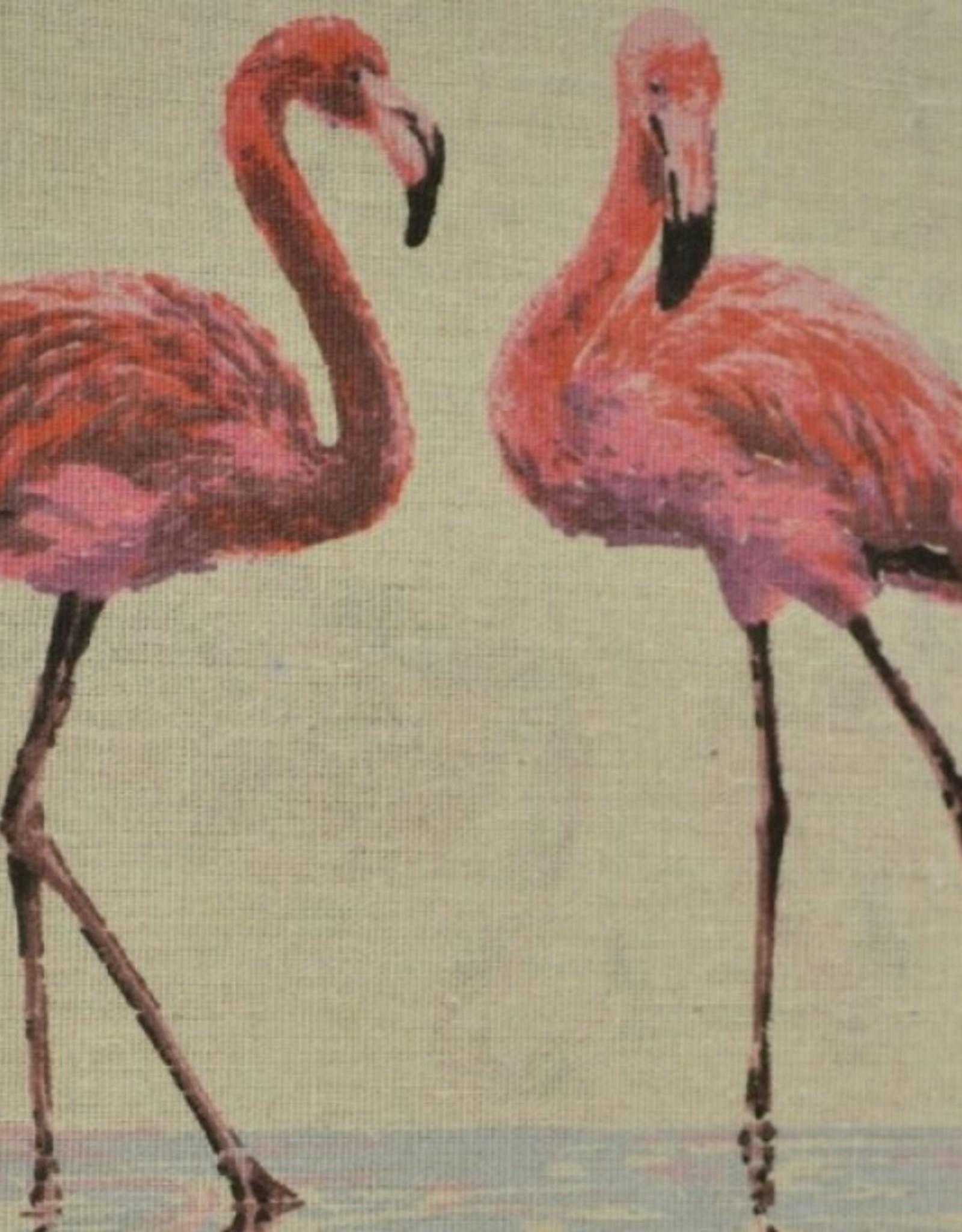 Canvas naturel Flamingo