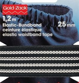 Prym Prym - elastische non-slip tailleband zwart 25mm - 996 402