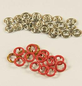 Navulling jersey drukknopen rood 11mm