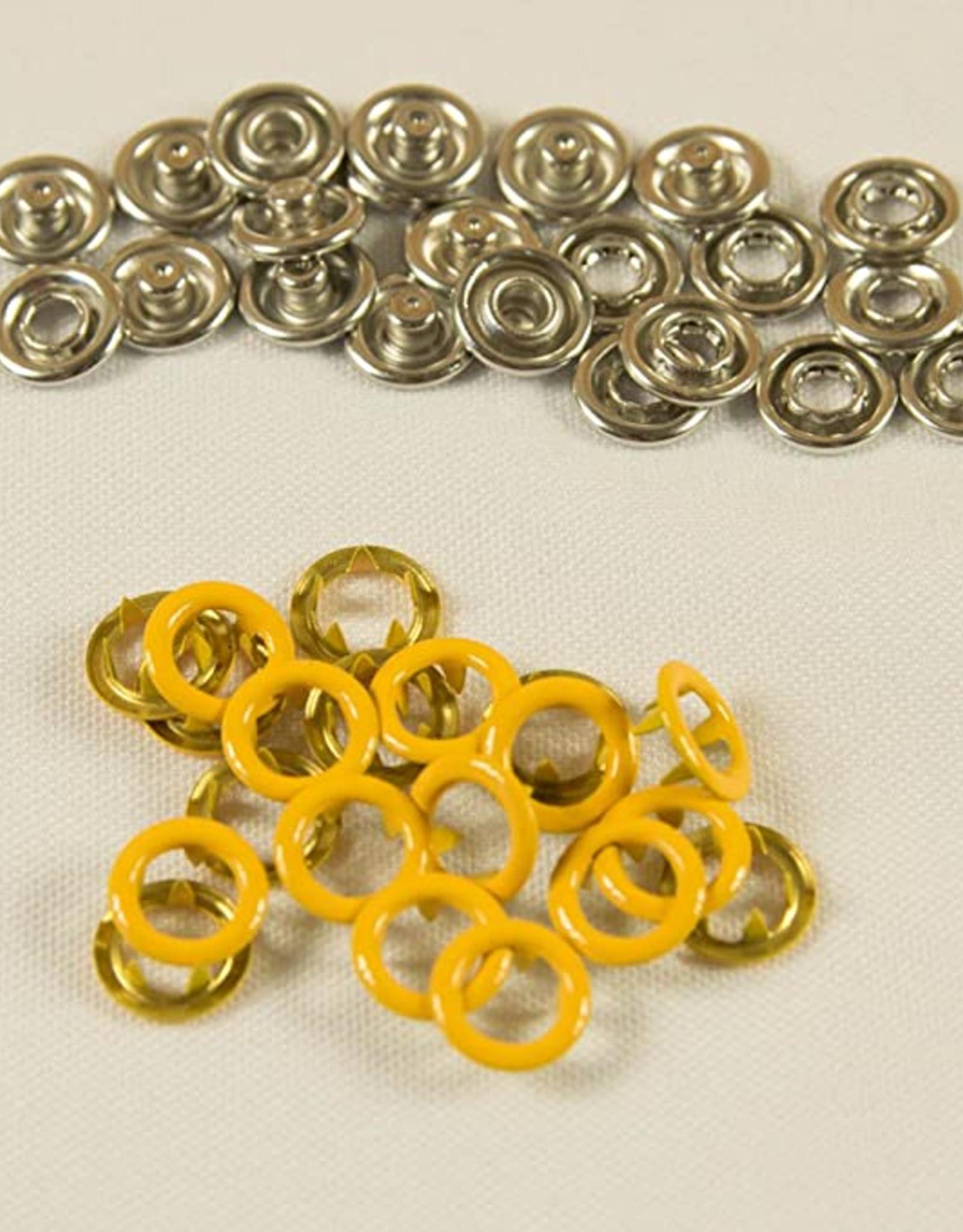 Navulling jersey drukknopen geel 11mm