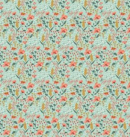 Poppy Poplin flowers mint