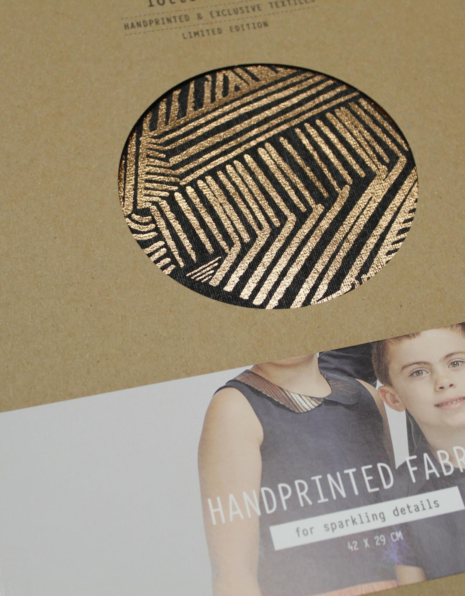 Lotte Martens Eye Candy Handprinted Fabric Punta di Roma Carex Dark Grey 42x29cm